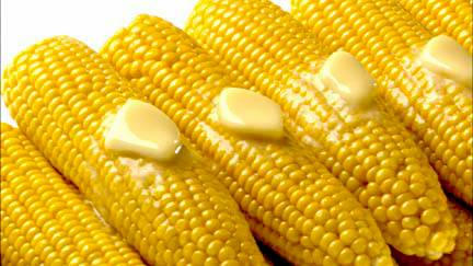 sweet corn with butter