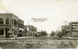 Isanti Co Fair Historical view of Main St looking north
